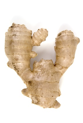 ginger root, isolated